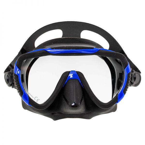 Маска Marlin Enjoy Black + синяя рамка