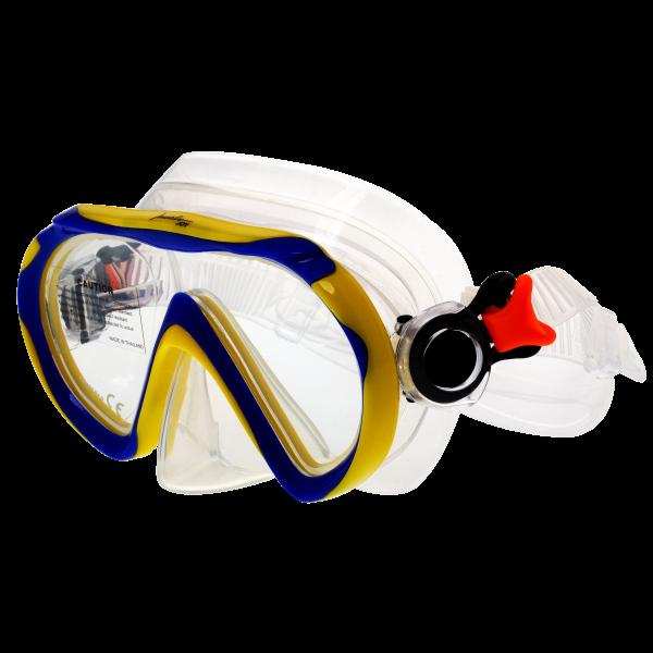 Маска для подводного плавания детская Marlin Joy Blue/Yellow