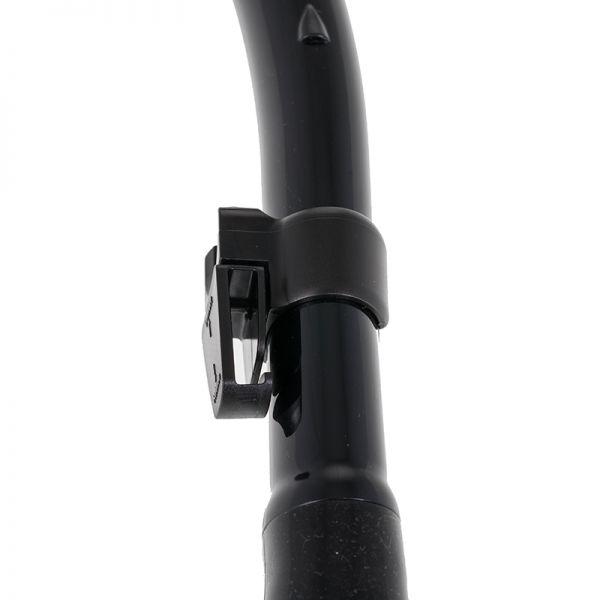 Трубка для подводной охоты с клапаном Marlin Flash Black/orange прямая гофра