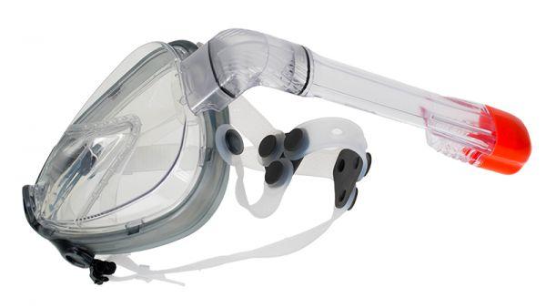 Полнолицевая маска для дайвинга Marlin Full Face Grey/trans
