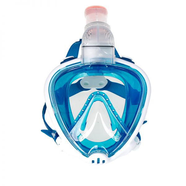Маска для подводного плавания полнолицевая Marlin Full Face White/blue
